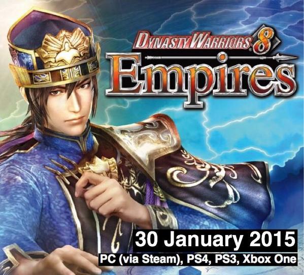 Data d'uscita di Dynasty Warriors 8: Empires