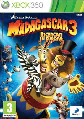 Copertina del gioco Madagascar 3: The Video Game per Xbox 360