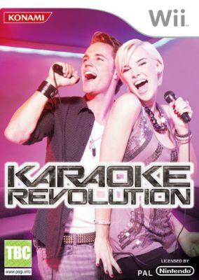 Copertina del gioco Karaoke Revolution per Nintendo Wii