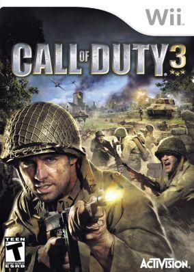 Copertina del gioco Call of Duty 3 per Nintendo Wii