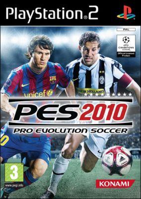 Copertina del gioco Pro Evolution Soccer 2010 per Playstation 2