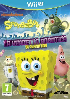 Copertina del gioco SpongeBob SquarePants: La Vendetta Robotica di Plankton per Nintendo Wii U