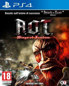 Copertina del gioco Attack on Titan: Wings of Freedom per Playstation 4