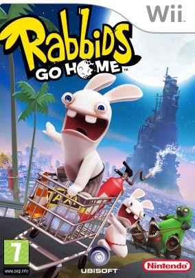 Copertina del gioco Rabbids Go Home per Nintendo Wii