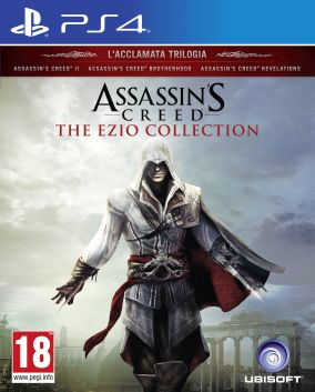 Copertina del gioco Assassin's Creed The Ezio Collection per Playstation 4