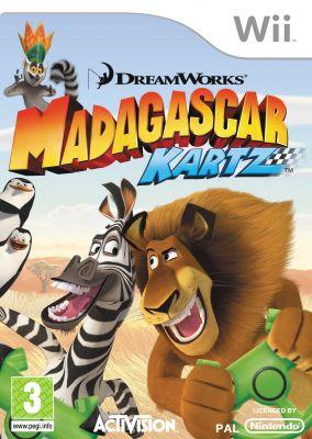 Copertina del gioco Madagascar Kartz per Nintendo Wii