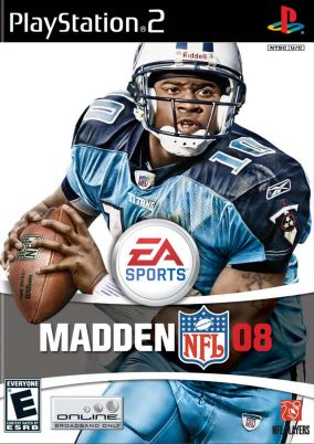Copertina del gioco Madden NFL 08 per Playstation 2