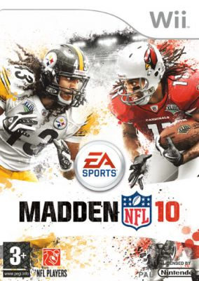 Copertina del gioco Madden NFL 10 per Nintendo Wii