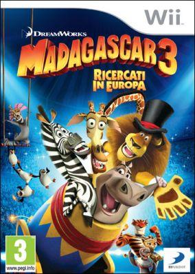 Copertina del gioco Madagascar 3: The Video Game per Nintendo Wii