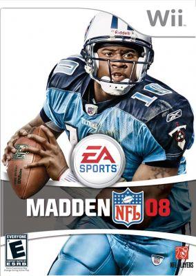 Copertina del gioco Madden NFL 08 per Nintendo Wii