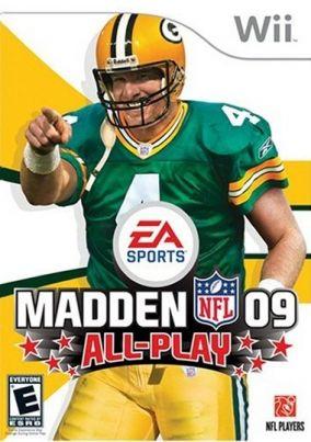 Copertina del gioco Madden NFL 09 per Nintendo Wii