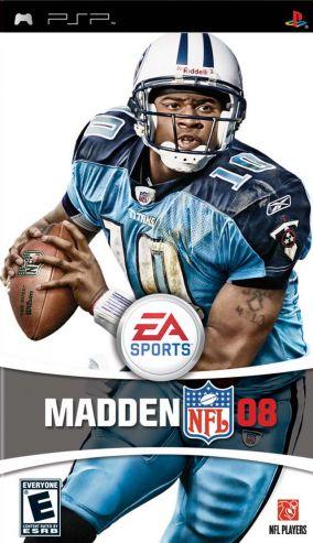 Copertina del gioco Madden NFL 08 per Playstation PSP