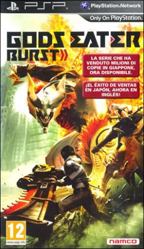 Copertina del gioco God Eater Burst per Playstation PSP