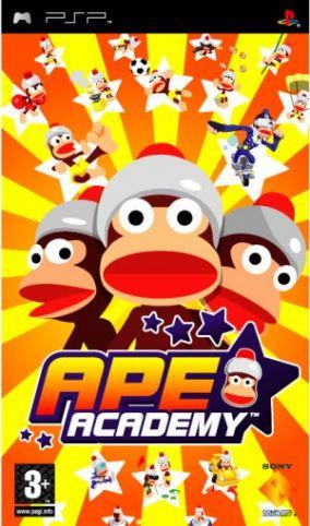 Immagine della copertina del gioco Ape Escape Academy per Playstation PSP