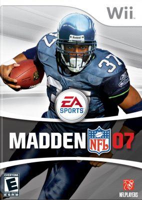 Copertina del gioco Madden NFL 07 per Nintendo Wii