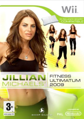 Copertina del gioco Jillian Michaels' Fitness Ultimatum 2009 per Nintendo Wii