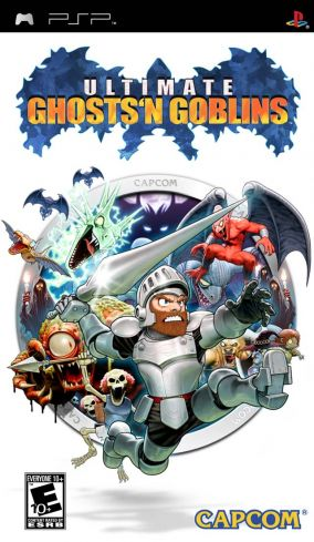 Copertina del gioco Ultimate Ghosts 'n Goblins per Playstation PSP