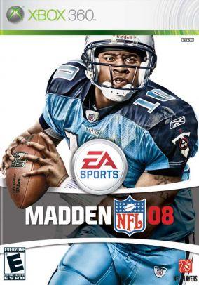 Copertina del gioco Madden NFL 08 per Xbox 360