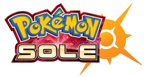 Logo del gioco Pokemon Sole per Nintendo 3DS