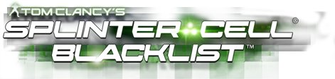 Logo del gioco Splinter Cell Blacklist per Xbox 360