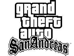 Logo del gioco Gta: San Andreas per PlayStation 2