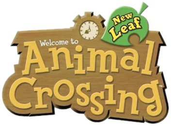 Logo del gioco Animal Crossing: New Leaf per Nintendo 3DS