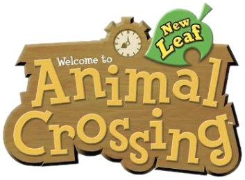Logo del gioco Animal Crossing: New Leaf per Nintendo 3DS
