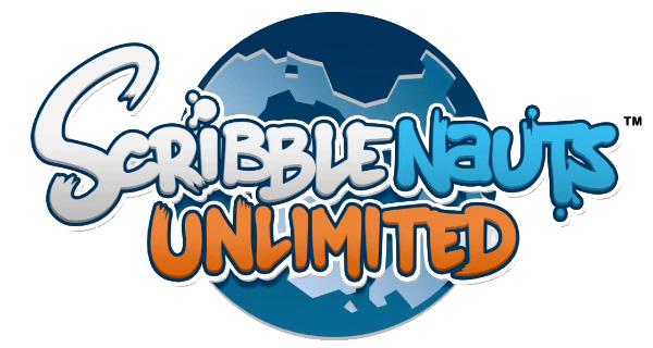 Logo del gioco Scribblenauts Unlimited per Nintendo 3DS