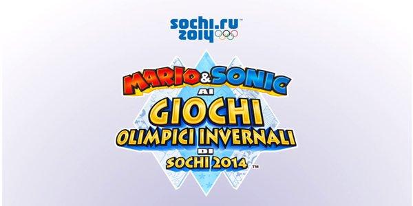 Logo del gioco Mario & Sonic ai Giochi Olimpici invernali di Sochi 2014 per Nintendo Wii U
