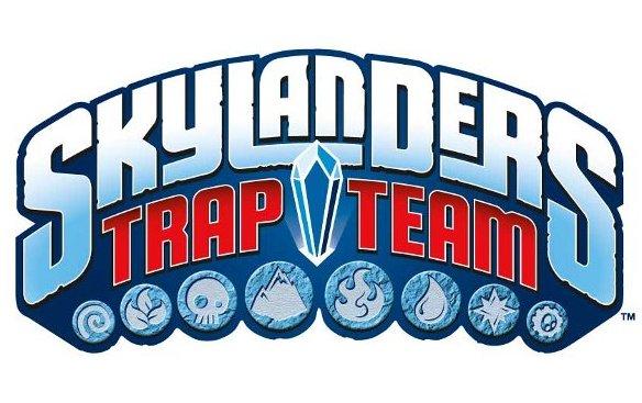 Logo del gioco Skylanders Trap Team per Nintendo Wii
