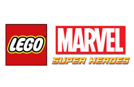 Logo del gioco LEGO Marvel Super Heroes: L'Universo in Pericolo per Nintendo DS